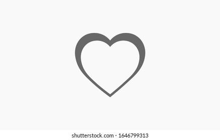 Heart Icon, vector illustration. vector illustration. Web design icon