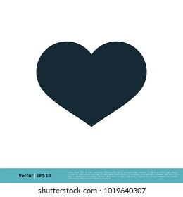 Heart Icon Vector Logo Template