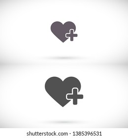 Heart Icon Vector . Lorem Ipsum Illustration design