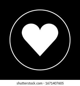Heart Icon Vector. Love symbol.