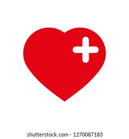 heart icon vector, on white background editable eps10