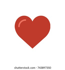 Heart icon, Heart icon vector, in trendy flat style isolated on white background. Heart icon image, Heart icon illustration