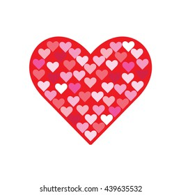 Heart icon. Vector. Valentines day.