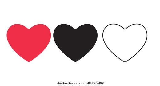 heart icons, concept of love.