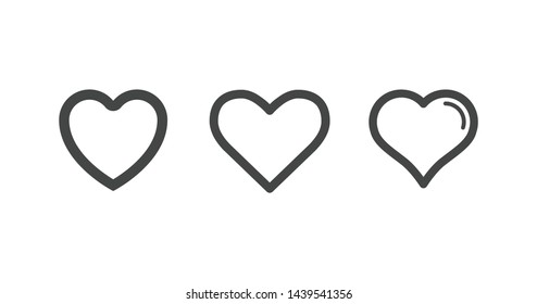 Heart icons, concept of love for your website