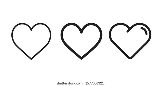 Heart icons, love concept isolated on white - 01