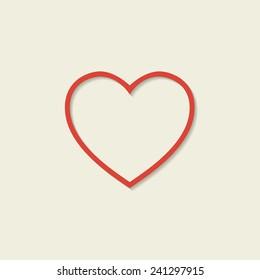 Heart icons. Vector illustration, EPS 10.