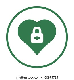 Heart  icon,vector. Flat design.