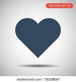 Heart Icon.Vector illustration. EPS 10