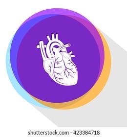 heart. Internet template. Vector icon.