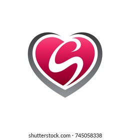 Heart With Letter R Initial Logo Template Ez Canvas