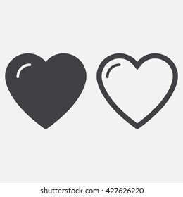 heart line icon, outline and solid vector love logo, linear pictogram isolated on white, pixel perfect illustration
