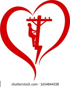 Heart of a lineman design is for all the people that love their linemen. Show how proud you are of your lineman. You can use for many projects. Decal, T-Shirts, blankets, cups and more.