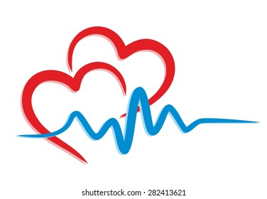 heart Logo with the cardiogram.