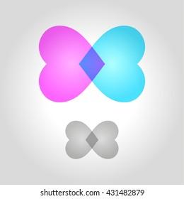 heart logo, icon and symbol vector illustration