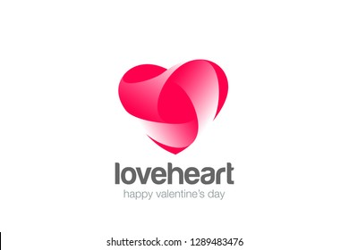 Heart Logo Love design vector template. Cardiology Medical Symbol Logotype. Valentines day concept icon.
