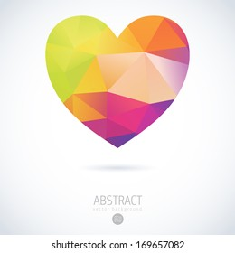 heart logo mosaic love diamond polygon background vector triangle vector geometric collage heart pattern for valentines day design heart logo mosaic love diamond polygon background vector triangle hap