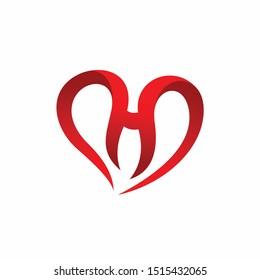 Heart logo that formed letter H