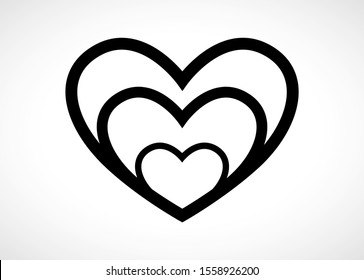 Heart Logo Vector For Valentine Day - Isolated On Gray Background - Vector Illustration. Heart Icon For Wedding, Label, Banner, Symbol, Love Icon And Logo Design. Modern Heart Logo. Love Icon