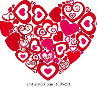 Heart in heart the love