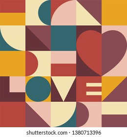 Heart and love design. Valentines day card. Abstract background wallpaper vector