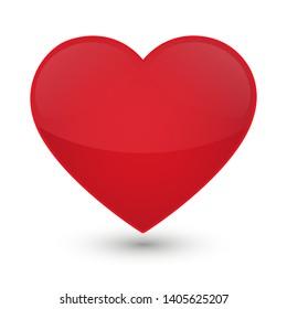 Heart Love Emoji Icon Object Symbol Gradient Vector Art Design Cartoon Isolated Background