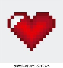 heart love graphic design , vector illustration