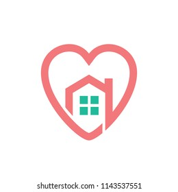 Heart Love House Real Estate Housing Realty