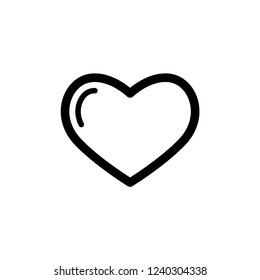 Heart or Love Icon Symbol & Sign Vector Template.
