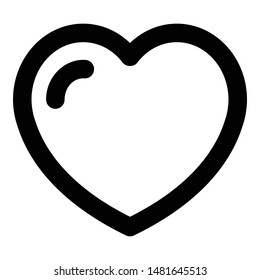 Heart love kid icon. Outline heart love kid vector icon for web design isolated on white background