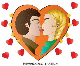 Heart Love in orange