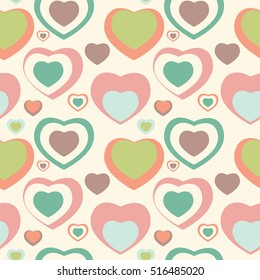 Heart Love Seamless Pattern Background Vector Illustration EPS10