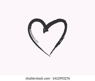 Heart love symbol design concept element vector. Valentine hearth design illustrator element for valentine day, gift, wedding, icon.