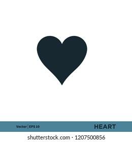 heart love valentine like vector logo element