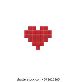 Heart, love,  Valentine's Day, icon, sketch