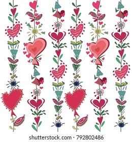 heart love vector seamless