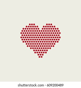 Heart made from circles