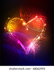 """heart  """"made of light"""" collection"""