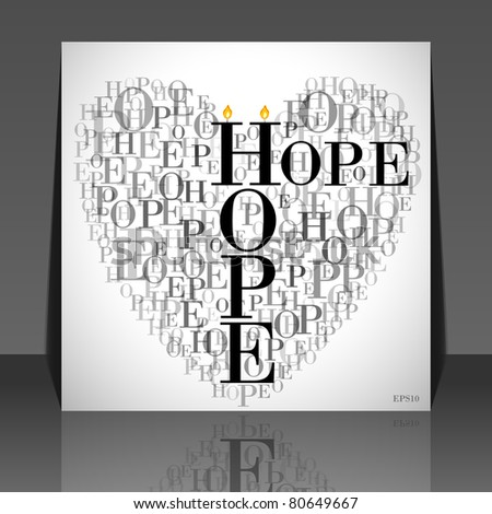 Heart Made Words HOPE Flyer Design Stock Vector Royalty Free
