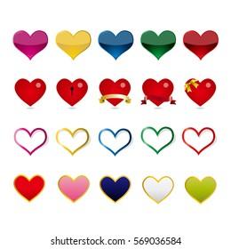 Heart mark icon.
