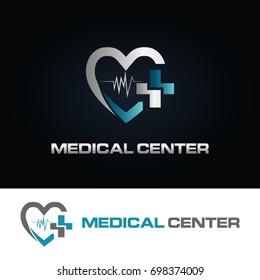 Heart Medical Center Logo Symbol icon