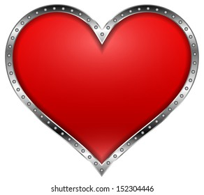 Heart in a Metal Frame - Great concept and contrast