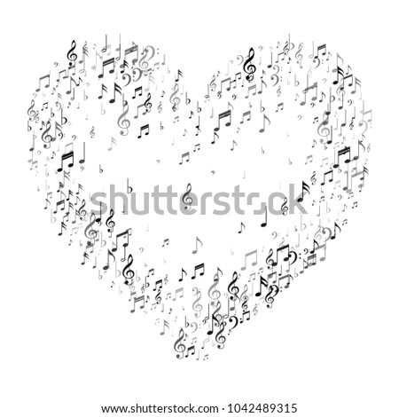Heart Music Note Signs Symbols Music Stock Vector Royalty Free