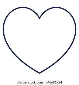 Heart outline icon, modern minimal flat design style