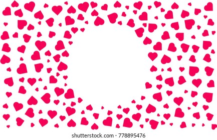 Heart pattern background. isolated heart. seamless frame heart pattern vector