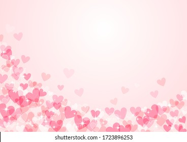 Heart pattern background for Valentine's Day