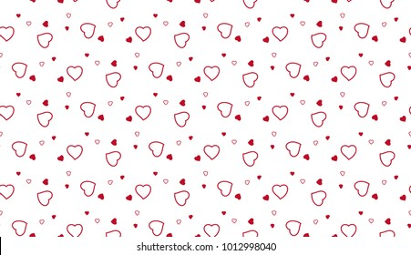 Heart pattern. Seamless vector background