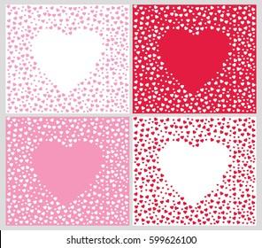 Heart pattern set. Vector heart pattern. Heart shape pattern