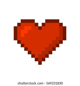 Heart. Pixel Art Style. Vector