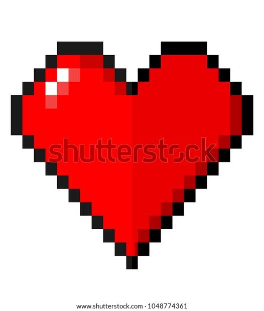 Image Vectorielle De Stock De Heart Pixel Art Vector 1048774361